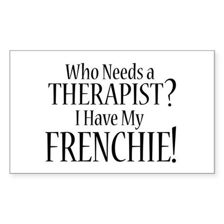 THERAPIST Frenchie Sticker (Rectangle)
