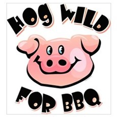 Hog Wild For BBQ Wall Art Canvas Art