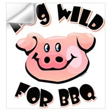Hog Wild For BBQ Wall Art Wall Decal