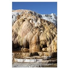 Cleopatra Terrace, Mammoth Hot Springs geothermal  Framed Print