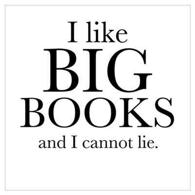 I LIke Big Books Wall Art Poster