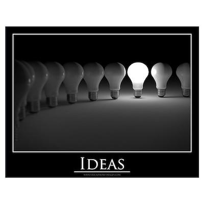 Ideas concept Wall Art Poster