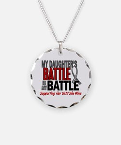 My Battle Too Brain Cancer Necklace Circle Charm