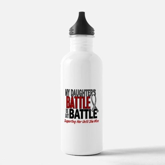 My Battle Too Brain Cancer Water Bottle