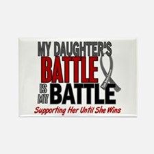 My Battle Too Brain Cancer Rectangle Magnet