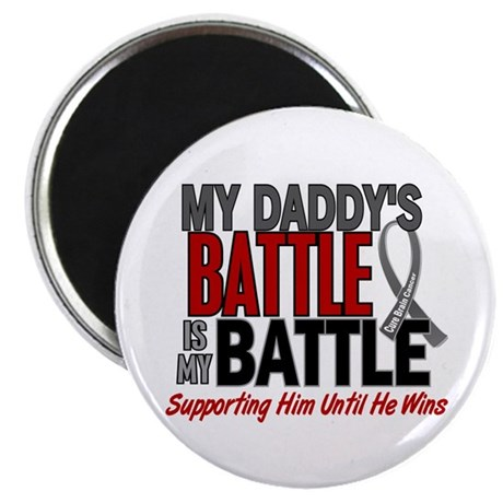 "My Battle Too Brain Cancer 2.25"" Magnet (100 pack)"
