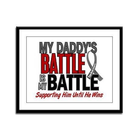 My Battle Too Brain Cancer Framed Panel Print
