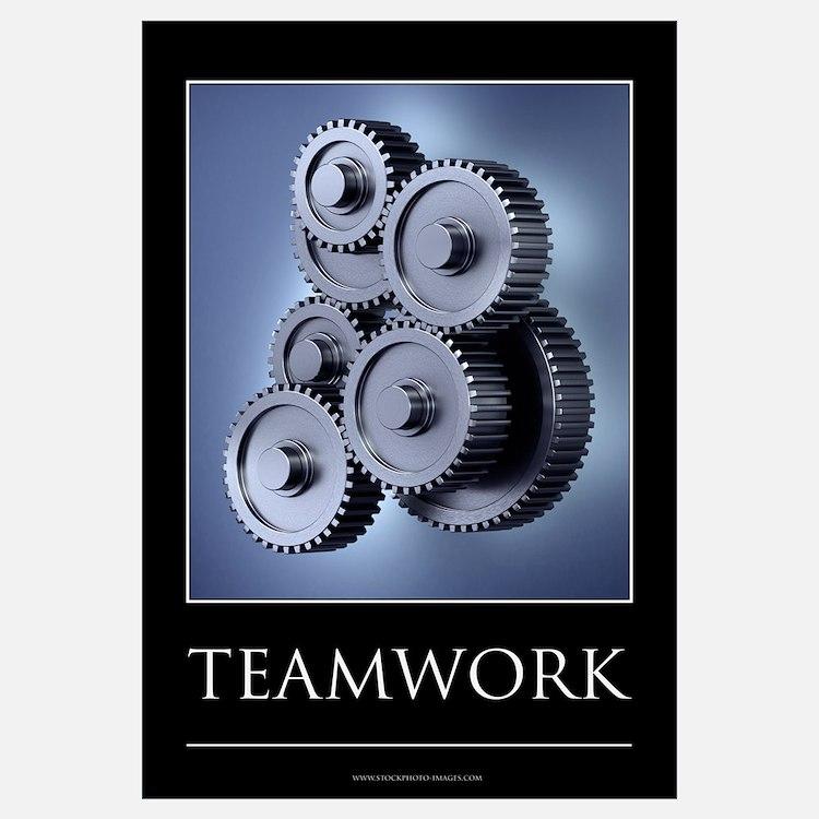 Teamwork motivational poster Wall Art