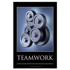 Teamwork motivational poster Wall Art Poster