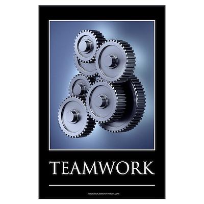 Teamwork motivational poster Wall Art Poster