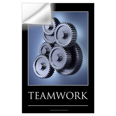 Teamwork motivational poster Wall Art Wall Decal