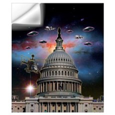 UFOs Over Wash. DC Wall Art Wall Decal