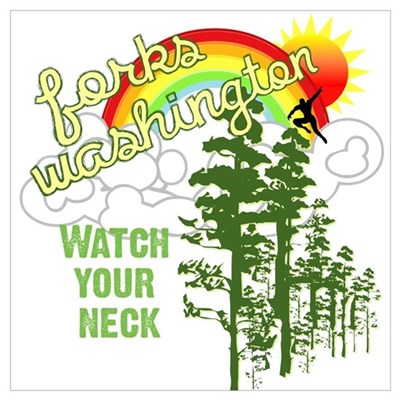 Forks WA Watch Your Neck Wall Art Framed Print