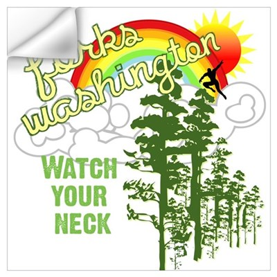 Forks WA Watch Your Neck Wall Art Wall Decal