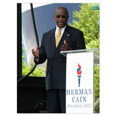 herman cain Wall Art Canvas Art