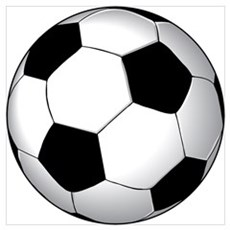 Soccer Ball Wall Art Poster