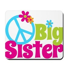 Peace Sign Big Sister Mousepad