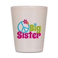 Peace Sign Big Sister Shot Glass