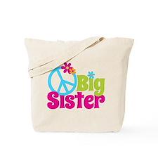 Peace Sign Big Sister Tote Bag