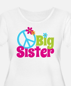 Peace Sign Big Sister T-Shirt