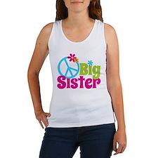 Peace Sign Big Sister Women's Tank Top