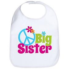Peace Sign Big Sister Bib