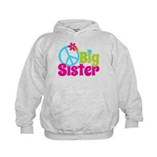 Peace Sign Big Sister Hoodie