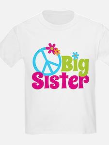 Peace Sign Big Sister T-Shirt