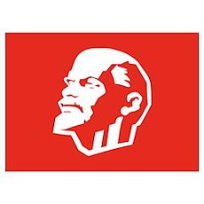 Leninist Flag Wall Art Poster