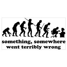 Something, somewhere went ter Wall Art Poster