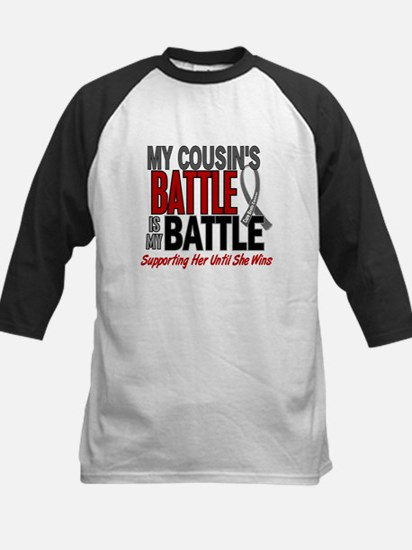 My Battle Too Brain Cancer Kids Baseball Jersey