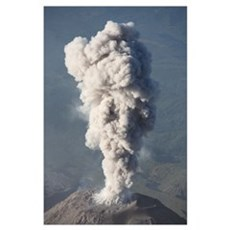 Eruption of ash cloud from Santiaguito dome comple Poster