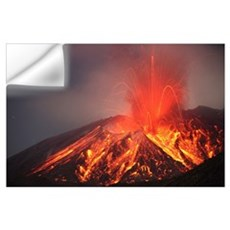 Explosive Vulcanian eruption of lava on Sakurajima Wall Decal