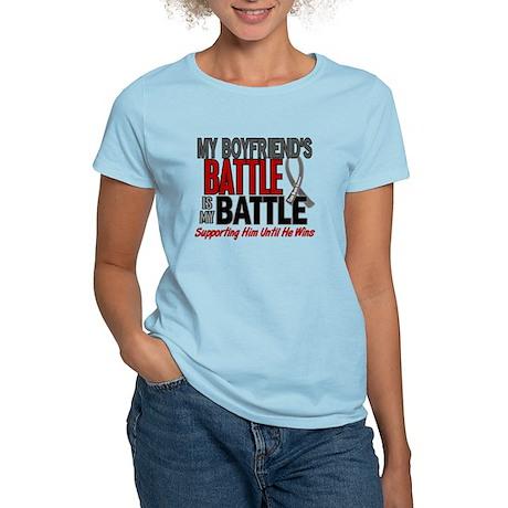 My Battle Too Brain Cancer Women's Light T-Shirt