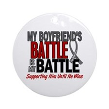 My Battle Too Brain Cancer Ornament (Round)