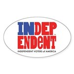 Independent Voters of America Sticker (Oval)
