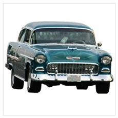 55 chevy 2 Wall Art Canvas Art
