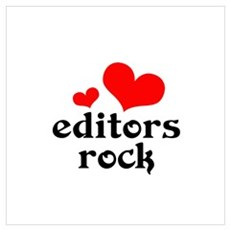 editors rock (red/black) Wall Art Framed Print