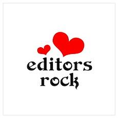 editors rock (red/black) Wall Art Poster