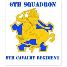 DUI - 6th Sqdrn - 9th Cavalry Regt with Text Mini Framed Print