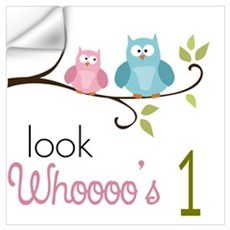 Custom Owl Birthday Wall Art Wall Decal