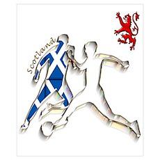 Scotland Footballer Wall Art Poster