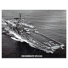 USS ORISKANY Wall Art Poster