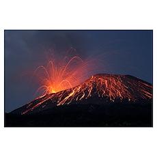 Vulcanian eruption of Anak Krakatau volcano, Sunda Poster