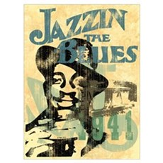 Jazzin The Blues Wall Art Framed Print
