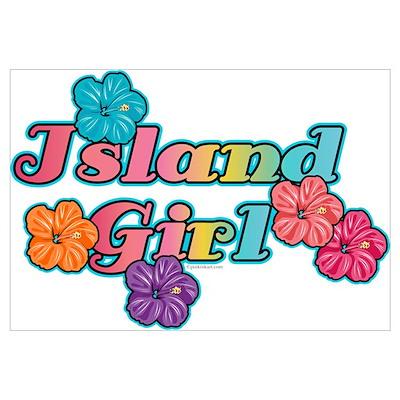 Island Girl Wall Art Poster