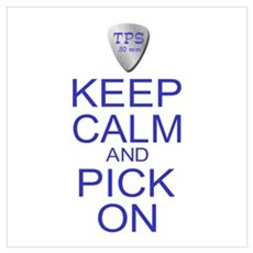 Keep Calm Parody Guitar Pick Wall Art Poster