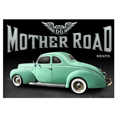 Mother Road - Mint Wall Art Poster