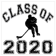 Class Of 2020 Hockey Wall Art Poster
