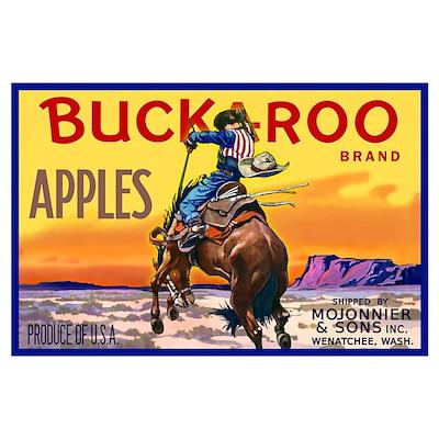 Buckaroo Apples Wall Art Poster